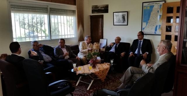 السفارة المغربية بفلسطين تستقبل قيادة التقدم والاشتراكية