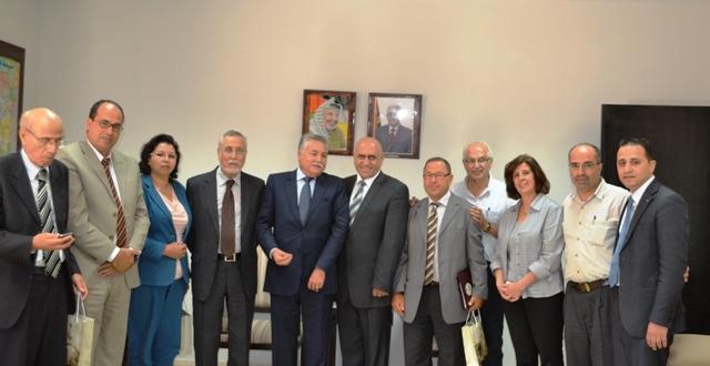 وفد التقدم والاشتراكية بفلسطين يلتقي بمحافظ نابلس