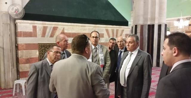 وفد التقدم والاشتراكية بفلسطين يزور الحرم الابراهيمي