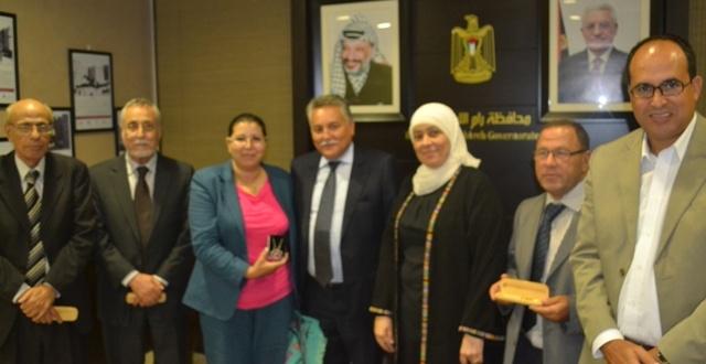 وفد حزب التقدم والاشتراكية يلتقي محافظة رام الله والبيرة ، د.ليلى غنام