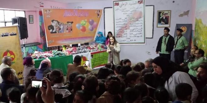السيدة شرفات أفيلال تزور مدرسة طفولتها