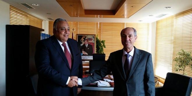 السيد عبد السلام الصديقي يستقبل سفير مصر بالمغرب